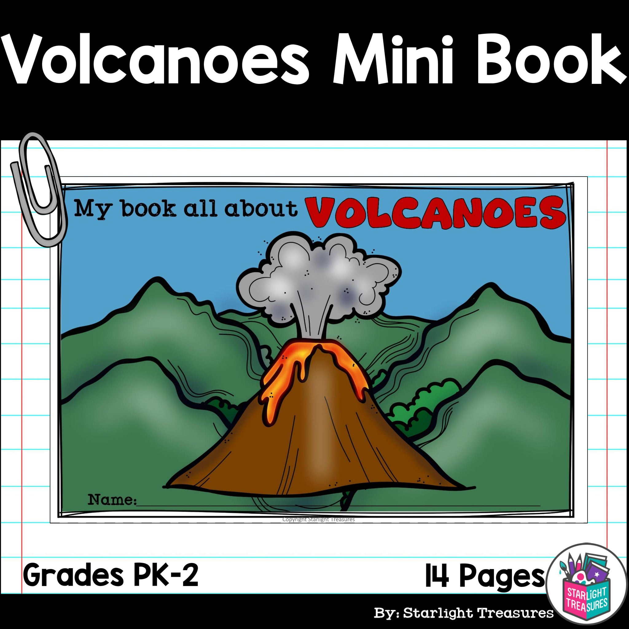 Volcanoes Mini Book for Early Readers - Starlight ...