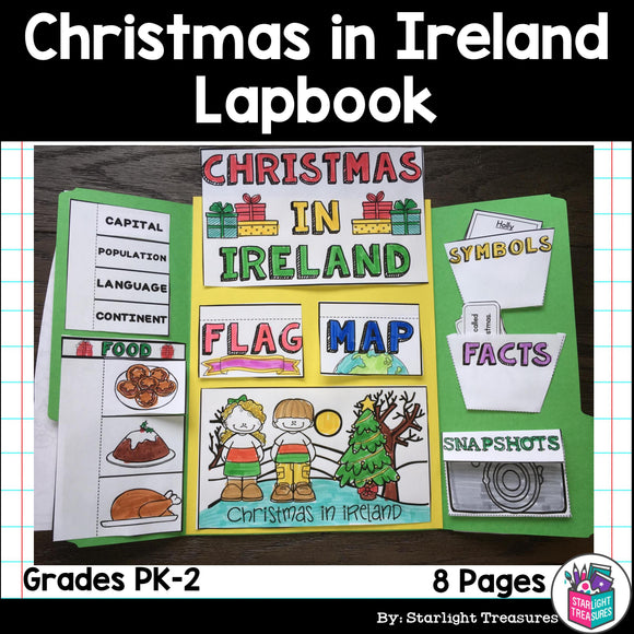 Christmas in Ireland Lapbook for Early Learners
