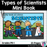 Types of Scientists Mini Book for Early Readers