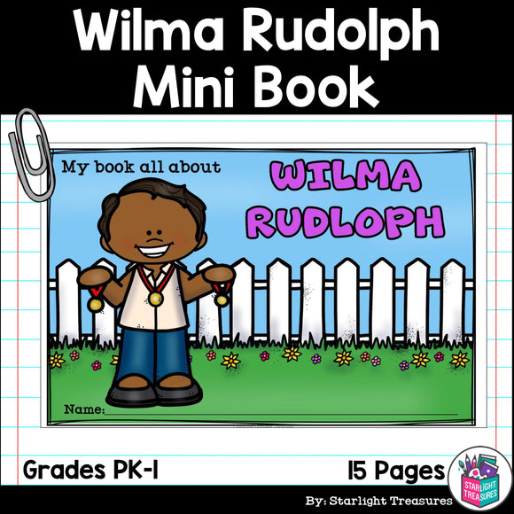 Wilma Rudolph Mini Book for Early Readers: Women's History Month
