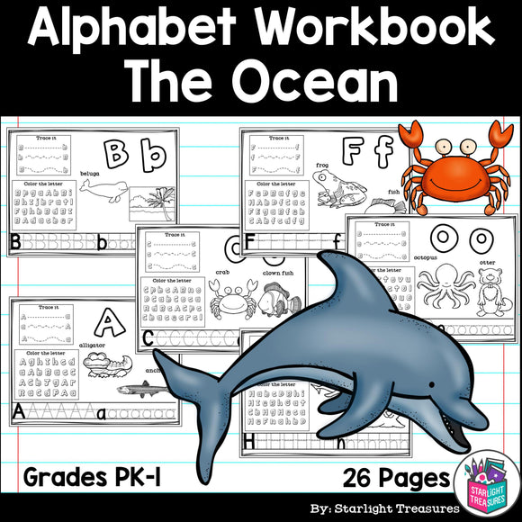 Worksheets A-Z The Ocean Theme