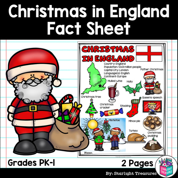 Christmas in England Fact Sheet for Early Readers