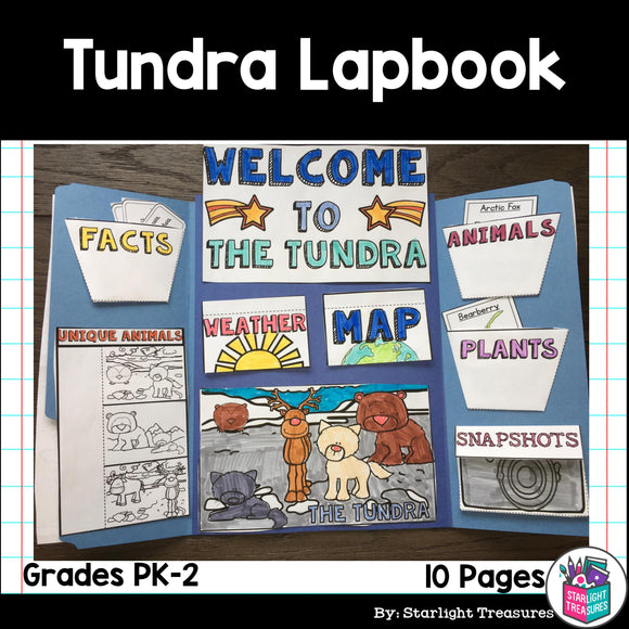 Tundra Lapbook for Early Learners - Animal Habitats