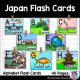Alphabet Flash Cards for Early Readers - Country of Japan