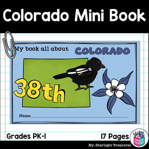 Colorado Mini Book for Early Readers - A State Study