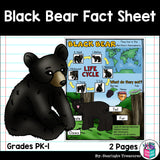 Black Bear Fact Sheet for Early Readers