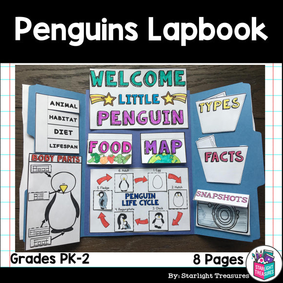 Penguins Lapbook for Early Learners