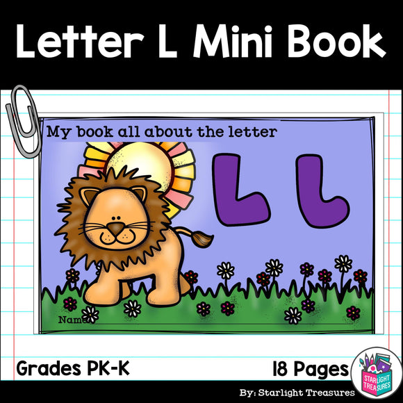 Alphabet Letter of the Week: The Letter L Mini Book