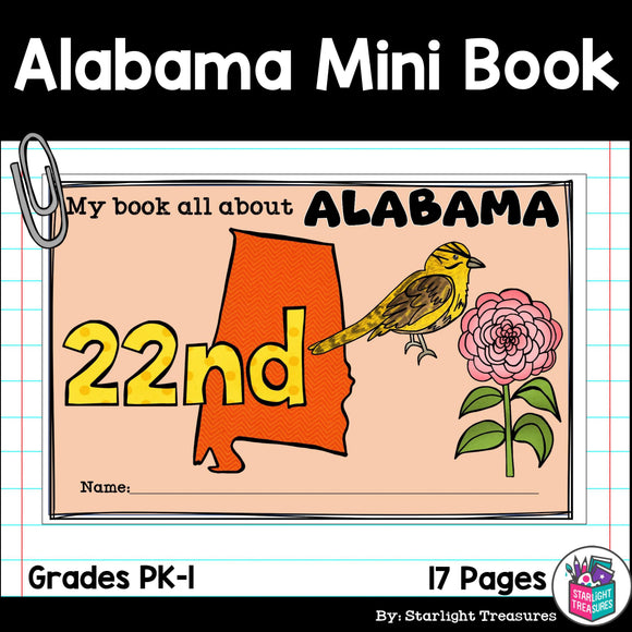 Alabama Mini Book for Early Readers