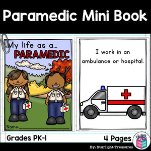 Paramedic Mini Book for Early Readers
