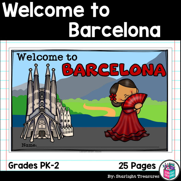 Welcome to Barcelona Mini Book for Early Readers - A City Study