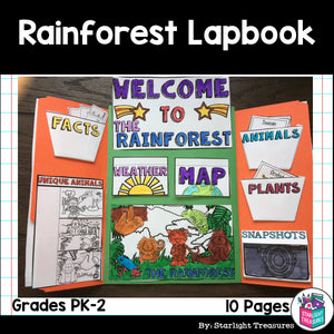 Rainforest Lapbook for Early Learners - Animal Habitats