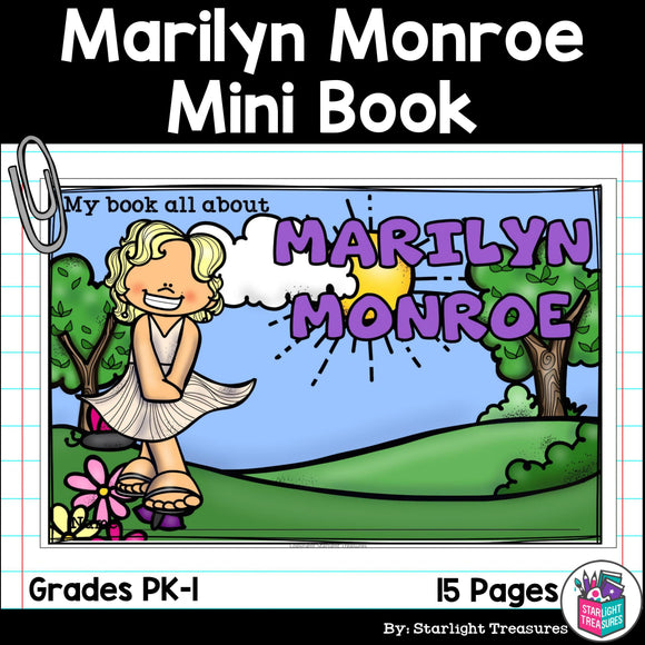 Marilyn Monroe Mini Book for Early Readers: Women's History Month