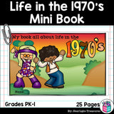 Life in the 1970s Mini Book for Early Readers