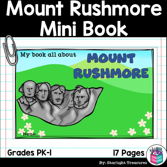 Mount Rushmore Mini Book for Early Readers: American Symbols