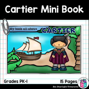 Jacques Cartier Mini Book for Early Readers: Early Explorers