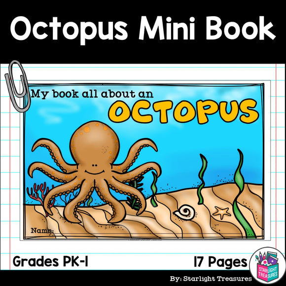 Octopus Mini Book for Early Readers