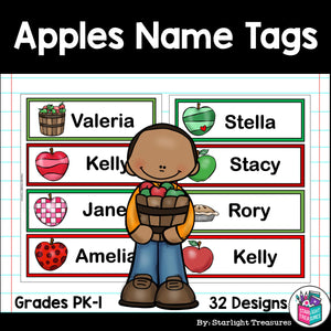 Apples Name Tags