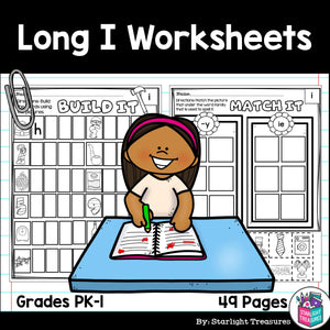 Long I Worksheets and Activities for Early Readers