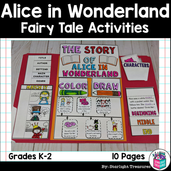 Alice in Wonderland Lapbook