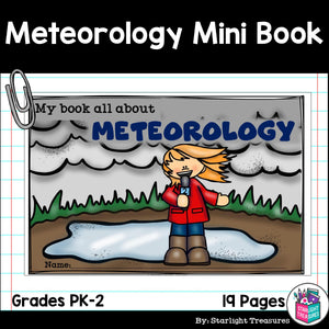 Meteorology and Weather Maps Mini Book for Early Readers