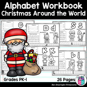 Worksheets A-Z Christmas Around the World