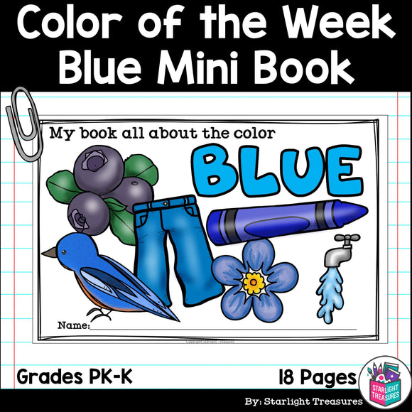 Colors of the Week: Blue Mini Book
