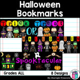 Halloween Cut n' Color Bookmarks