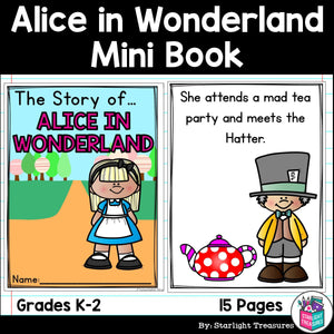 Alice's Adventures in Wonderland Mini Book for Early Readers - Fairy Tales