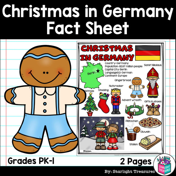 Christmas in Germany Fact Sheet for Early Readers