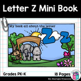 Alphabet Letter of the Week: The Letter Z Mini Book