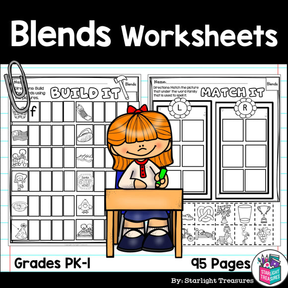 Beginning Blends Worksheets and Activities for Early Readers