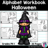 Worksheets A-Z Halloween Theme
