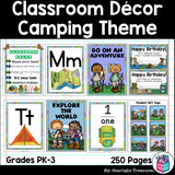 Classroom Decor Pack - Camping Theme