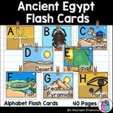 Alphabet Flash Cards for Early Readers - Ancient Egypt