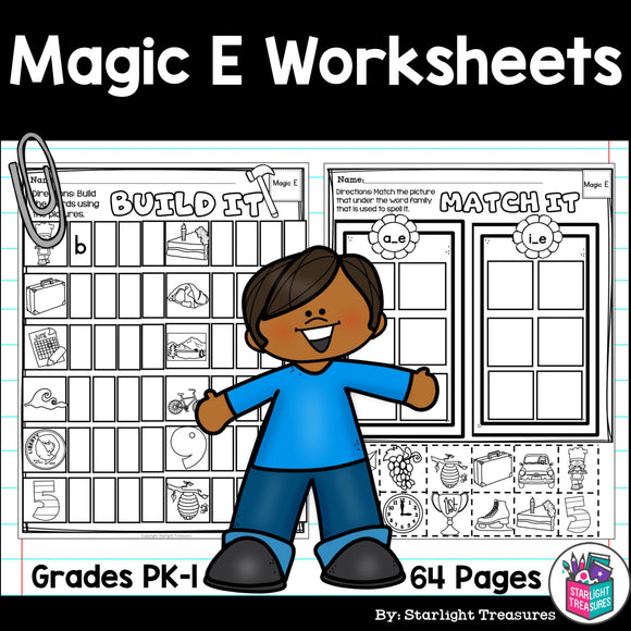 Magic E Worksheets and Activities for Early Readers