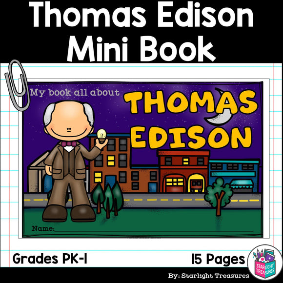 Thomas Edison Mini Book for Early Readers: Inventors