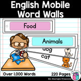 Over 1,000 English Words Mobile Word Walls