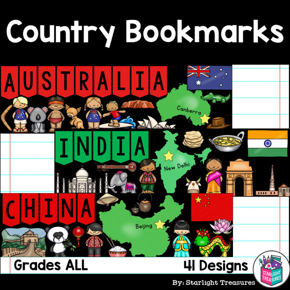 Country Cut n' Color Bookmarks
