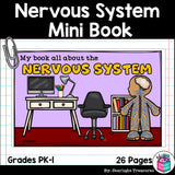 Human Body Systems: Nervous System Mini Book for Early Readers