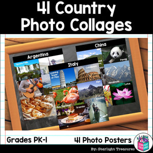 Country Photo Poster Collages