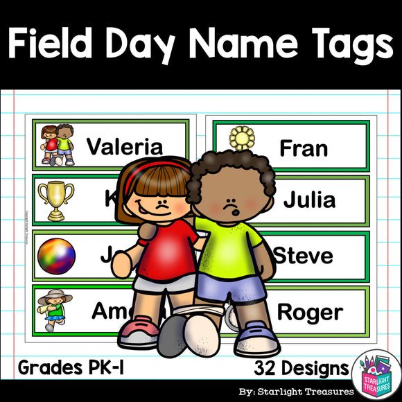 Field Day Name Tags - Editable