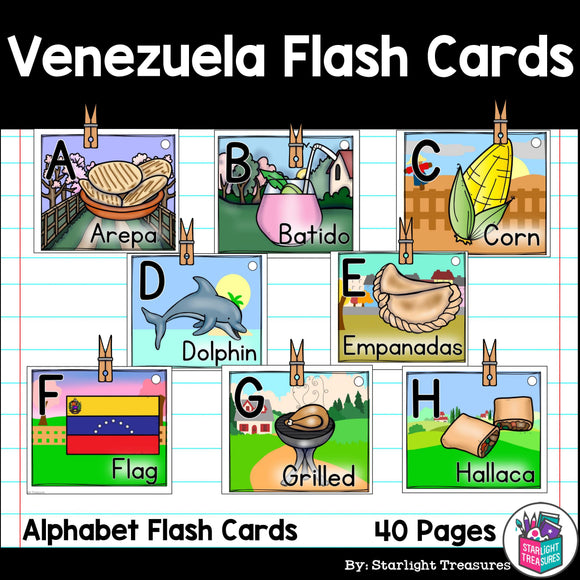 Venezuela Flash Cards