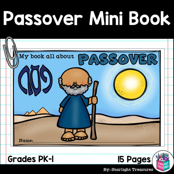 Passover Mini Book for Early Readers