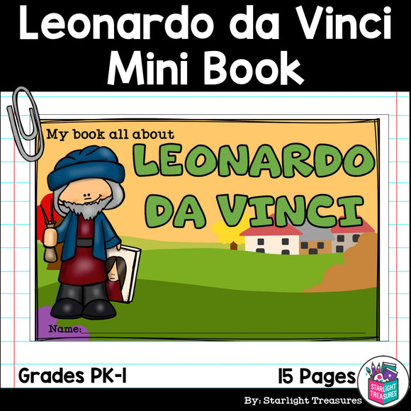 Leonardo da Vinci Mini Book for Early Readers: Inventors