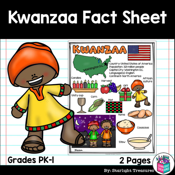 Kwanzaa Fact Sheet for Early Readers