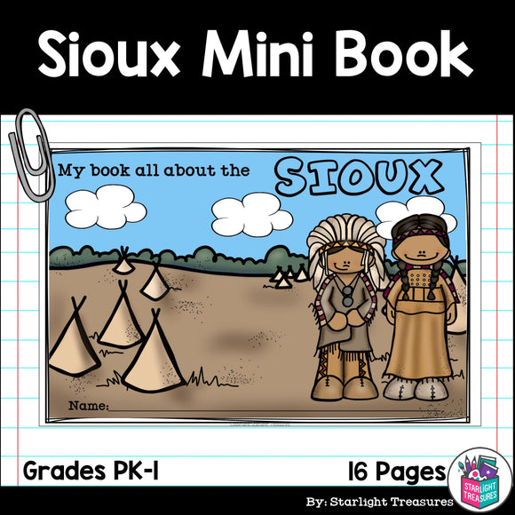 Sioux Tribe Mini Book for Early Readers