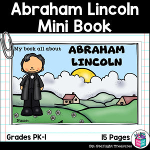Abraham Lincoln Mini Book for Early Readers