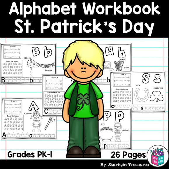 Worksheets for A-Z - St. Patrick's Day Theme