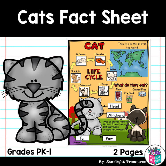 Cat Fact Sheet for Early Readers